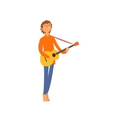 Acoustic Guitar Player vector image vector image