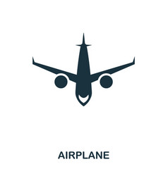 aircraft icon mobile app printing web site icon vector image