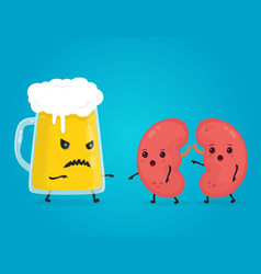 alcohol kill kidneys stop drink concept vector image