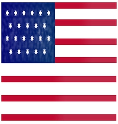 American flag red vector