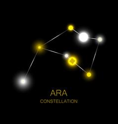 Ara constellation bright yellow stars in the vector