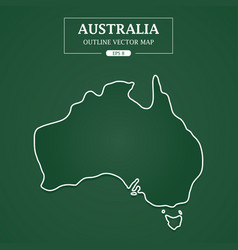 australia outline border on green background vector image