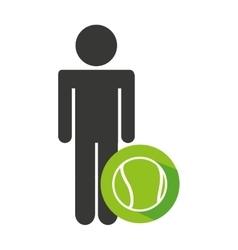 Avatar silhouette athlete icon vector