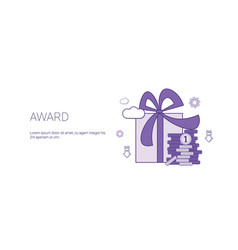 award gift web banner with copy space business vector image
