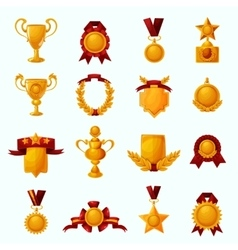Awards Cartoon Set vector image