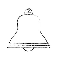 blurred silhouette image bell icon design vector image