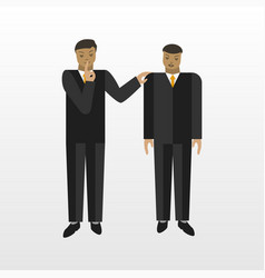 businessman tell a secret to another person vector image