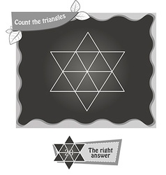 BW Count the triangles 1 vector image