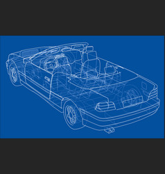 Car cabriolet concept vector