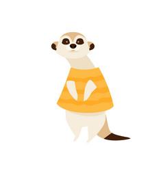 Cartoon character meerkat vector