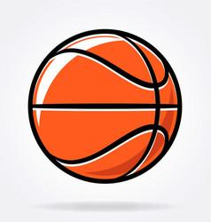 cartoon stylized basketball vector image