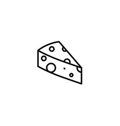 cheese food icon vector image