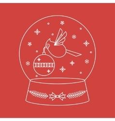 Christmas Snowglobe Card vector