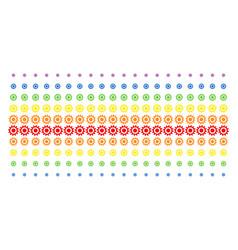 cogwheel shape halftone spectral grid vector image