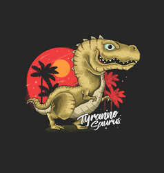 Cute tyrannosaurus graphic vector
