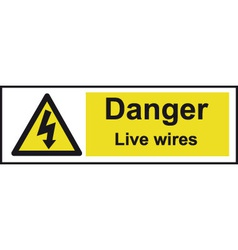 Danger Live Wires Safety Sign vector image