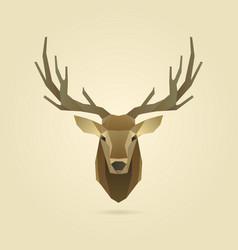 Deer portrait realistic vector