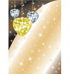 diamond heart background vector image