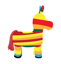 donkey pinata icon vector image