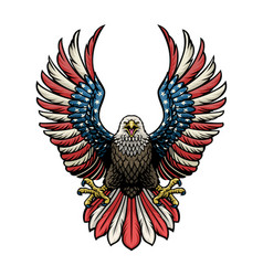 Eagle america in hand drawn style vector