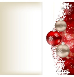 Elegant Christmas card template vector image