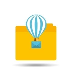 email balloon folder file design vector image