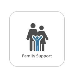 Family Support Icon Flat Design vector image