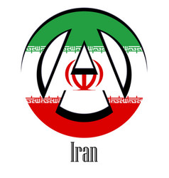 flag of iran of the world in the form of a sign vector image