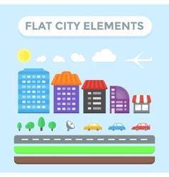 Flat City Elements vector image