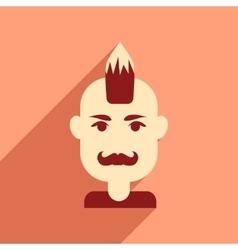Flat web icon with long shadow men haircut vector