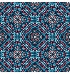 Flower Pattern Blue Pink Weave vector image