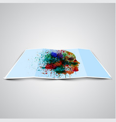 folded picture with a drawing vector image