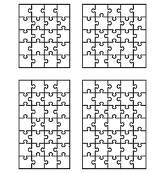 four white puzzles 2 vector image