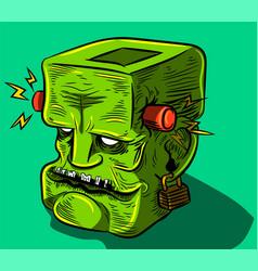 frankenstein zombie vector image