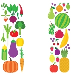 Fruit and vegetable background vector