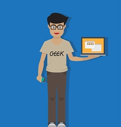 Geek vector image