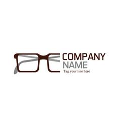 Glasses logo vector