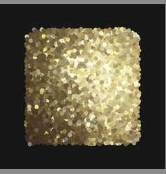 Golden background isolated on black vector