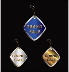 Grand sale tag vector