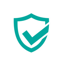 Green active protection shield icon on a white vector