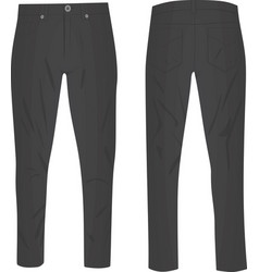 Grey pants vector