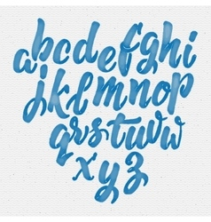 Hand drawn font handwriting brush vector