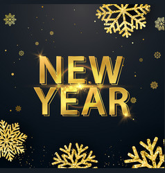happy new year 2019 greeting card with vector image