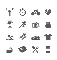Health and Fitness icons set with a vector image