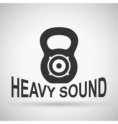 heavy sound vector image
