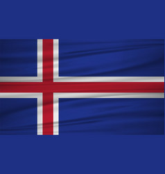Iceland flag flag of iceland blowig in the wind vector