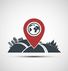 icon pointer location on the map vector image