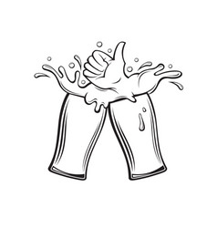 image of beer glasses vector image