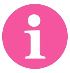 Information flat pink color icon vector