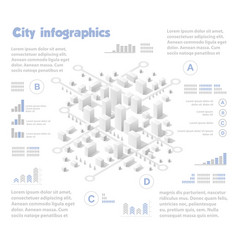 Isometric city map industry vector